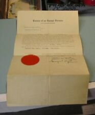 1934 Teaneck New Jersey Fire Department Signed Sealed Exempt Fireman Certificate