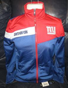 New York Giants Full Zip Light Track Jacket Big Kid Sizes