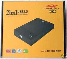 "Terabyte 2 in 1 External Hard Drive Casing Enclosure for 2.5"", 3.5"" Sata Disks"