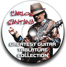 CARLOS SANTANA ROCK GUITAR TAB TABLATURE SONG BOOK ANTHOLOGY SOFTWARE CD