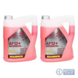 2 x Mannol Antifreeze AF12+ bis -40°C Kühlerfrostschutz Kühlmittel 5L rot