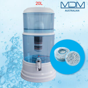 Benchtop Water Filter 20L Dispenser 8 Stage Water Filter Purifier with 3 Filters