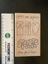 Print Works Collection Rubber Stamp-Smiles & Laughter Friend