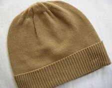 Camel 100% Pure cashmere Hat  Ski beanie Winter Cap skull Unisex