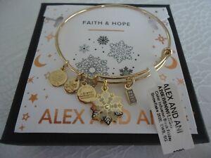 Alex and Ani BLACK FRIDAY SNOWFLAKE 2020 Shiny Gold Bangle New W/Tag Card & Box