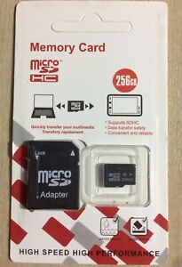 256GB MicroSD Memory Card Class 10 With Adapter For Mobile Camera Tablet