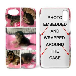 Personalised Collage Hard iPhone Case with your photo(s) -image wrapped around
