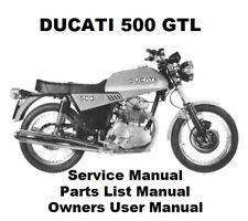 DUCATI 500 350 GTL - Owners Workshop Service Repair Parts Manual PDF on CD-R