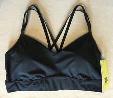 Women's Low Support Sports Fitness Bra, All in Motion, Black XXL Cris-cross Back