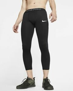 Nike Pro 3/4 Compression Tights Pants black Men's Size M Medium bv5643-010  NWT