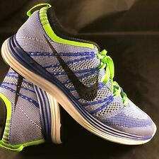 on sale 2e3bc cd684 NIKE FLYKNIT LUNAR 1 RUNNING SHOES Mens Sz 9 42.5 554887-401 Blue White  Green