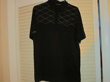 Travis Mathews Men's Golf Shirt - Size L - Black with White