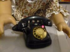 AMERICAN GIRL DOLL SIZE  ACCESSORIES - MINIATURE BLACK TELEPHONE LIGHTS & SOUNDS
