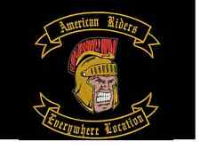 """Trojan Patch & Rockers, Sew on patch Quality Badge 13"""" X 13"""""""