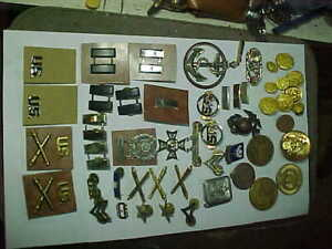 LOT Vintage RECENT MILITARY Medals Pins Badges Insignia Army Navy More++