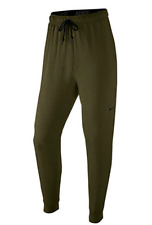 $186 NIKE Men GREEN DRI-FIT THERMA FLEECE JOGGER ATHLETIC TRAINING PANTS SIZE S