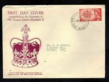1953 Australia Qe Ii Coronation First Day Cover to Toorak Queen Elizabeth 2 Fdc