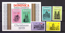 DOMINICA # Mi SHEET 59 + 651-654  # MNH  Famous Cathedrals Christmas  [099]