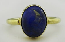 GENUINE 3.12 Cts Cabochon LAPIS LAZULI RING .925 Sterling Silver
