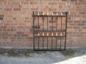 Maxton 4 ft tall wrought iron  garden / side gate very strong