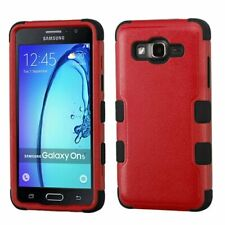 Asmyna Cell Phone Case for Samsung On5 - Natural Red/Black