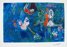 MARC CHAGALL Facsimile Signed Limited Edition Art Giclee CIRCUS CLOWN AND DANCER
