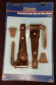 Hager Ornamental Screw Hook and Strap Hinges *NEW*