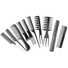 Lot 10 Piece Hair Styling Comb Set Professional Black Hairdressing Brush Barbers