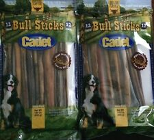 12 Inch Natural Bull Sticks, 24 pc, 1200g by Cadet