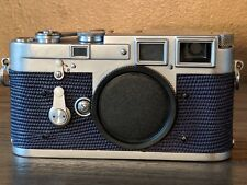 leica m3 body with navy blue lizard skin, double stroke