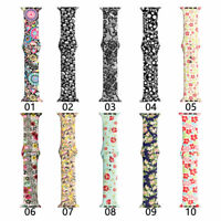 For Apple iWatch 6 5 4 3 2 SE Sport Silicone Watch Band Bracelet Strap 40/44mm