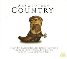 ABSOLUTELY COUNTRY 75 ORIGINAL CLASSICS Inc JOHNNY CASH, DON GIBSON & MANY MORE