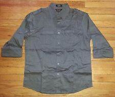 3081s NWOT $44 M Solid Gray EIGHTY EIGHT Platinum L/S Casual Button Shirt!