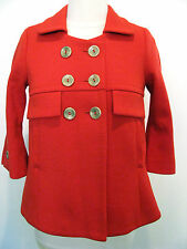 Smythe Les Vestes Red Double Breasted 100% Wool Jacket Size 2