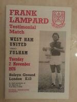 FRANK LAMPARD Testimonial Match 1978- WEST HAM UNITED v FULHAM - 2nd November