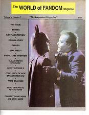 World of Fandom Magazine Vol. 2 #7 1989 Batman Anthrax Band Interview Cyborg ++