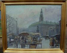 Blumenmarkt , unbekannter Maler, um 1940/50