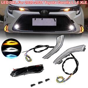 LED DRL Daytime Running Light Fog Lamp For 2020-2021 Toyota Corolla L LE XLE
