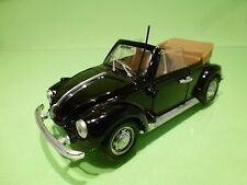 POLISTIL S15 VW VOLKSWAGEN BEETLE 1303 - CABRIOLET- BLACK 1:25 - GOOD CONDITION