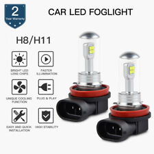 H11 H8 LED Foglight Headlight Bulbs 80W Lamp DRL Xenon White For BMW Audi Ford