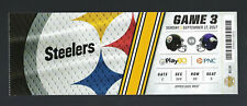 2017 NFL MINNESOTA VIKINGS @ PITTSBURGH STEELERS FULL UNUSED FOOTBALL TICKET