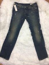 Jeans DIESEL Woman CUDDY Wash 0062S blue washed holed W28 L32 01355