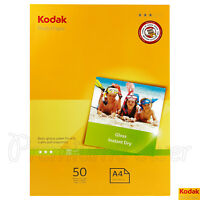 50 sheets x KODAK A4 Photo Paper Glossy 210 x 297mm 180gsm for inkjet printers