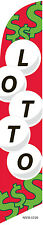 State LOTTO Powerball Super Lotto 12ft Feather Banner Swooper Flag - FLAG ONLY