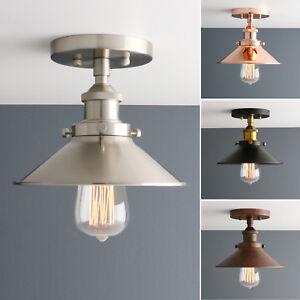PATHSON RETRO INDUSTRIAL STYLE FLUSHMOUNT WALL LAMP RUSTIC METAL WALL LIGHTING