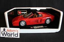 """Bburago Transkit Ferrari Testarossa 1984 """"Targa"""" 1:18 red (PJBB)"""