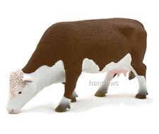 Mojo Fun 387067 Hereford Cow Grazing - Realistic Farm Animal Toy Replica - NIP