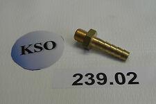 """Schlauchtülle Gewindetülle 1/8"""" AG x 6 mm Messing Pneumatik Wasser Druckluft NEU"""