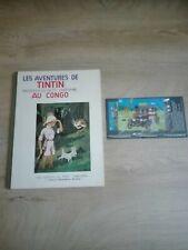 Tintin Au Congo Fac-similé N/B 1982 + Timbre anniversaire