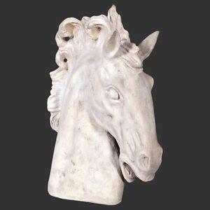 Horse Head Stone Effect Decorative Indoor Outdoor Garden Home Ornament Prop Gift